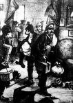 A bolsevikiek fegyveresen rabolják ki a jómódú emberek otthonát