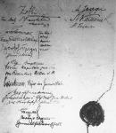 A Breszt-Litovszkban kötött fegyverszüneti egyezmény zárórésze az aláirásokkal