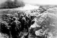 Német lövészárok az Aisne-nél