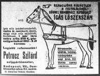 Petrucz Szilárd szijgyártómester lószerszám-hirdetése a gazdáknak