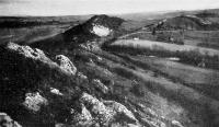 Kilátás a Bakonyra a cseszneki vár fokáról