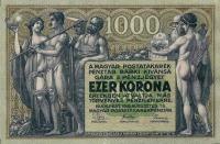 A Magyar Postatakarékpénztár 1000 koronás pénzjegye