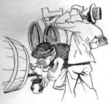 Gárdonyi Géza : A bor  -  Karikatura az előadásról