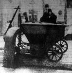 Utcai szemételtakaritó kocsi