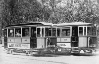 Villamos pótkocsi a huszas évek elején