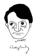 Major Henrik karikaturája