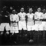 A MTK footballcsapata Kropacsek-Nyúl-Braun-Feldmann-Mandl-Molnár-Schlosser-Orth-Winkler-Vágó-Nagy