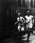 Körmendy Miklós (jobbról) és Némethy Jenő a verseny első és második helyezettje