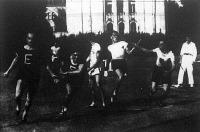 Az 5x100 méteres bajnoki staféta utolsó váltása