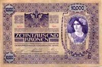 Felülbélyegzett 10 000 koronás hátoldala (forg. 1918.12.19. - 1921.06.05.)