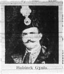 Rubinek Gyula földmivelésügyi miniszter