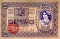 Felülbélyegzett 10 000 koronás előoldala (forg. 1918.12.19. - 1921.06.05.)