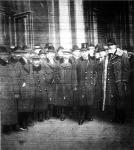 A magyar békedelegáció első csoportjának elutazása