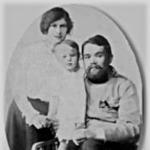 Kosáryné Réz Lola családjával 1915-ben