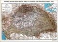 Magyarország térképe a békekötés előtt és utána