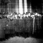 A Párizsba induló magyar békedelegáció: Teleki Pál, Bethlen István, Huszár Károly, Apponyi Albert
