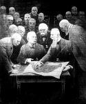 Apponyi Albert védi Magyarország érdekeit az ötös tanács előtt