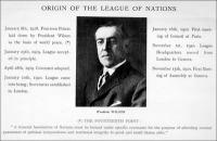 Wilson, a Népszövetség megálmodója és megteremtője