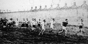 MTK szenior mezeiversenye (500 m-el a start után)
