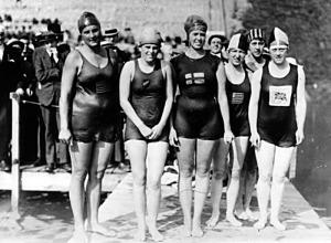 Női 100 m (Ethelda Bleibtrey(1.)-Violet Walrond-Jane Gylling-Frances Schroth(3.)-Irene Guest(2.))