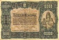 10 000 koronás államjegy előoldala