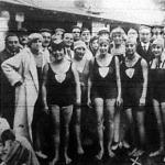 Nemzetközi úszóverseny. Grete Adler (x) a bécsi győztes