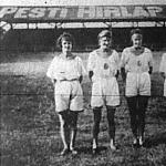 Az MTE versenyén győztes WAF hölgystaféta tagjai balról Mary Hiertl, Mimy Ehrlich, Adi Brierbrauer és Poldi Leitner