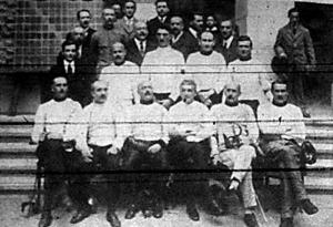 A budapesti vívó döntőverseny résztvevői