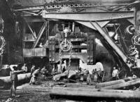 A Krupp-gyár egyik üzemcsarnoka