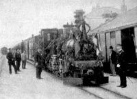 A bosnyák vasút megnyitó szerelvénye