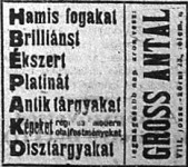 Hírdetés 1921