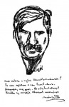 Móricz Zsigmond  karikaturája
