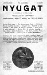 A Nyugat első számának címlapja