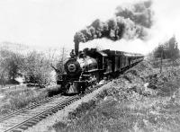 Santa Fe felé vágtató vonat 1900-ban
