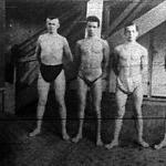 BKAC úszóversenyének bajnokai Bonk László - Jung Frigyes - Hlavacsek Márton - Bicskei