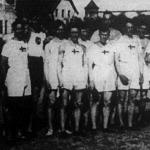 A svéd-magyar atlétikai verseny résztvevői
