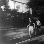 Az 1500 méteres bajnokság. Verseny közben.