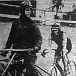 Balla László és vezetője Savanov Emil a 30 km motorvezetéses versenyben
