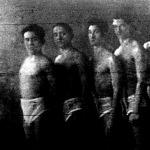 III. ker TVE vízipóló csapata Sándor, Keserű, Köves, Bory, Rudas, dr. Gáspár