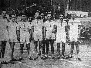 Az MTK csapata az 5000 méteres csapatverseny győztese