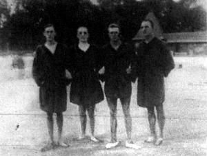 A Germania-vándordíj győztes csapata Géczy - Kenyery - Sipos - dr. Beleznay