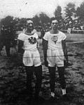Az MTK nemzetközi atletika versenyének külföldi résztvevői Haselsteiner (WAC) és Pettera (DEHG)