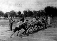 800 m-es síkfutás startja