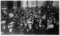 Cipész-sztrájk Budapesten.