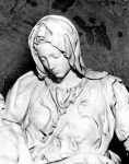 Michelangelo Piétája - Mária arca
