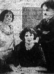 Chaplin legújabb felesége házassági szerződését írja alá