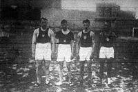 A BEAC versenyén résztvett atléták Tammers - Kemson - Klumberg - Ever