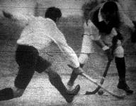 Jelenet a gyephockey mérkőzéséről