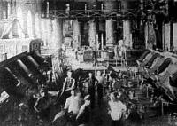 A hatvani cukorgyár egyik munkaterme