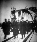 Magyarország leghosszabb vashídjának felavatása a kormányzó jelenlétében